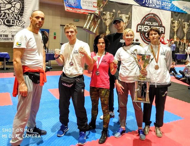 Polish Fight Cup 6, Szczecin, 5 medali, dwa puchary, PZKB, sport, Zielona Góra, kickboxing, sporty walki, Ewa Boś, Emilia Czerwińska, Jakub Zimoch, Przemysław Kalisz, Igor Sikora, Bogumił Połoński