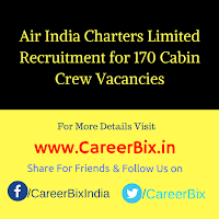 Air India Charters Limited Recruitment for 170 Cabin Crew Vacancies