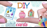 DIY Mini Christmas Cards: Step by Step instruction to make your own Stylish and Small Greeting card Idea