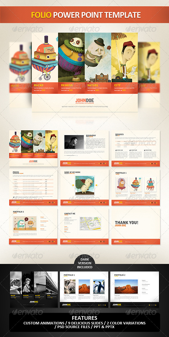 Your resume animated powerpoint template - powerpoint designer resume