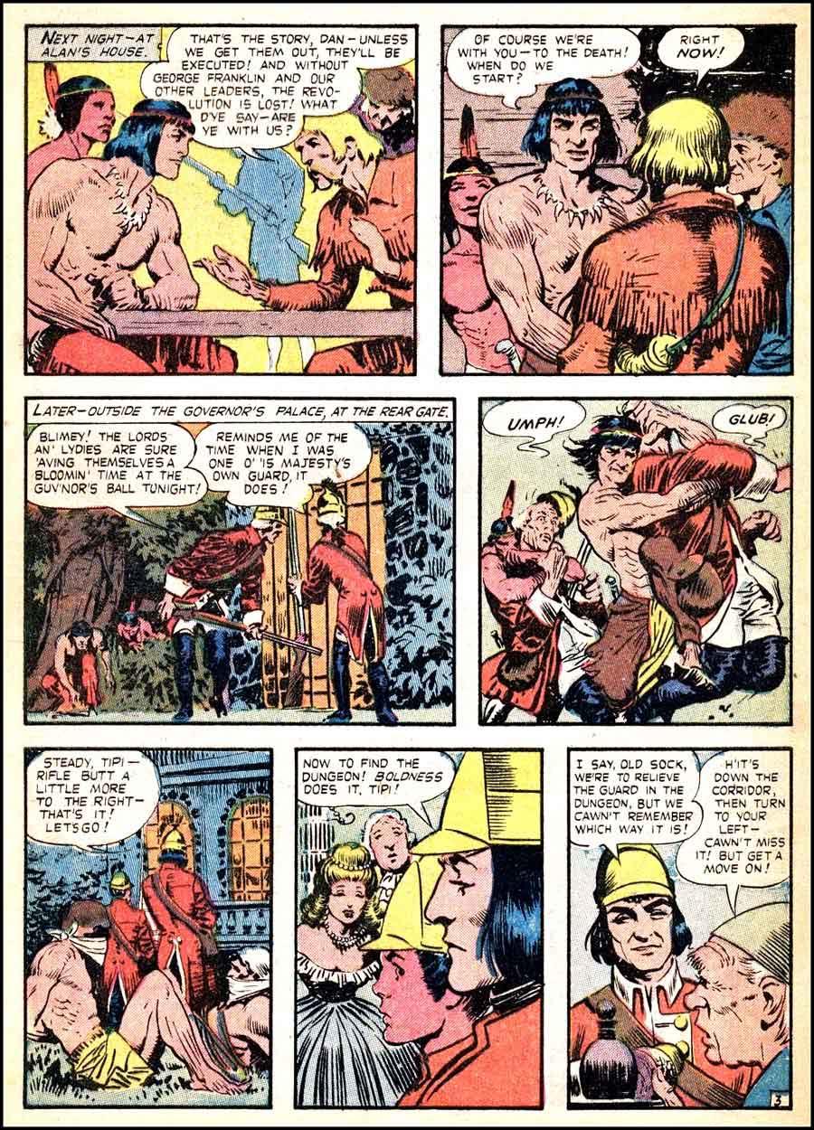 Frank Frazetta 1950s golden age western comic book page / Durango Kid #7