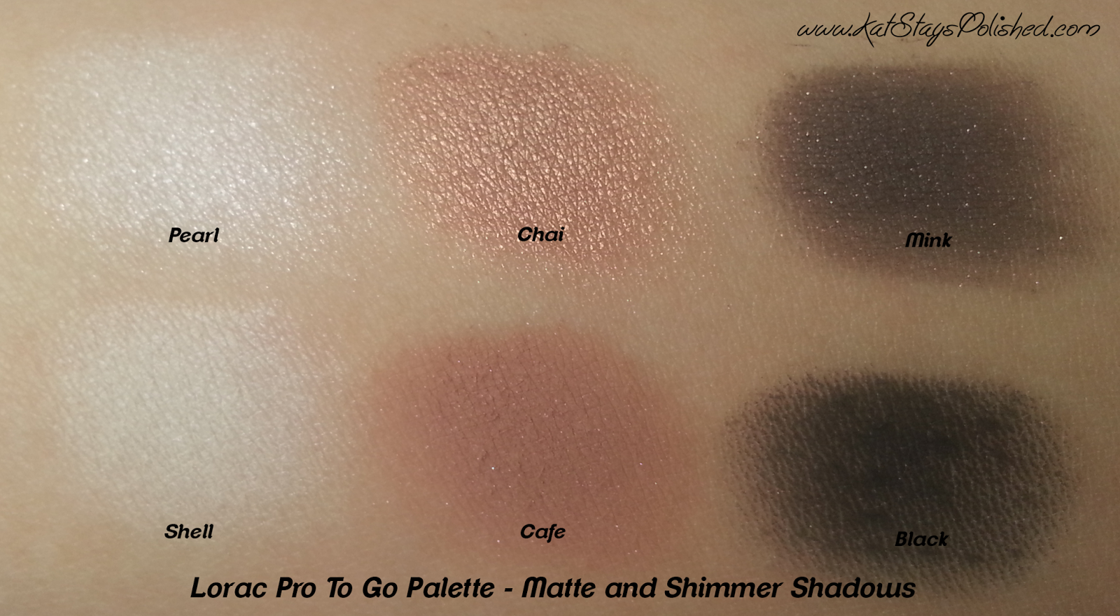 Lorac Pro To Go Palette - Matte and Shimmer Shadow Swatches