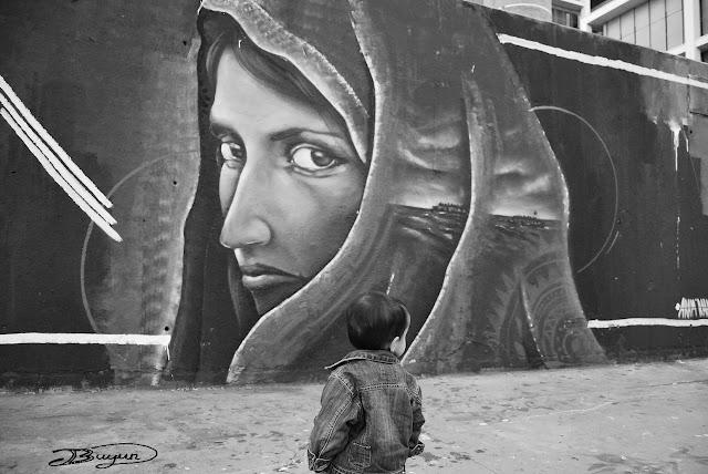 Fotografía urbana en blanco y negro Barcelona