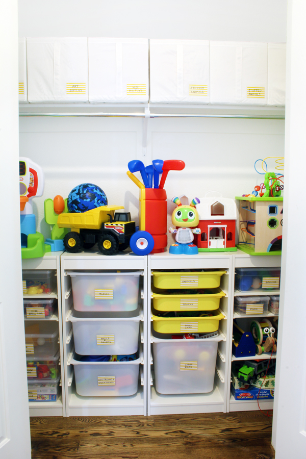 a toy storage solution that can grow with the kids blue. Black Bedroom Furniture Sets. Home Design Ideas