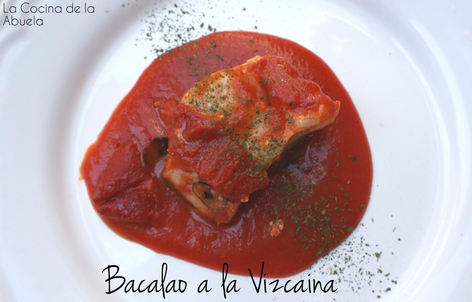 Bacalao a la riojana con bacalao fresco la cocina de la - Bacalao fresco con tomate ...