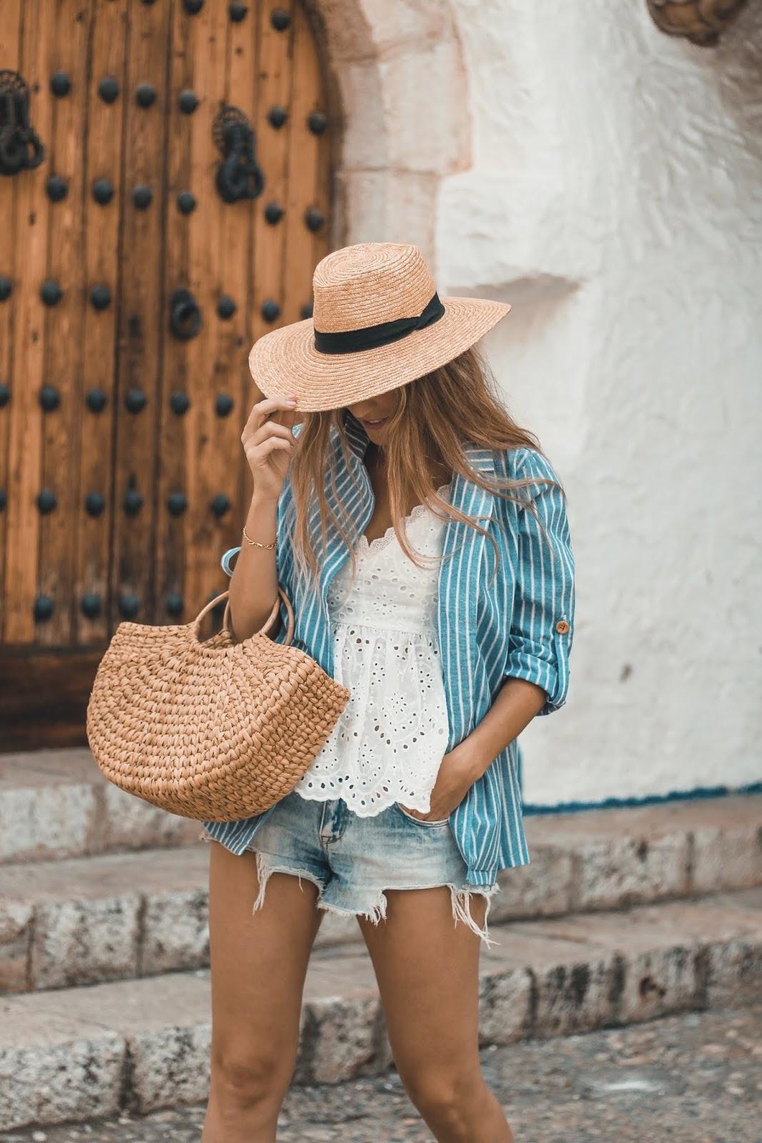 camisa de rayas lino