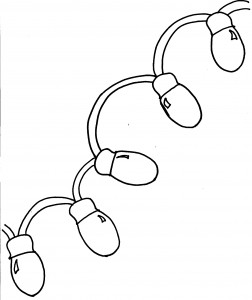 christmas light coloring page for kids