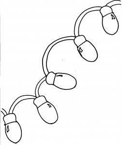 Christmas light coloring page 3
