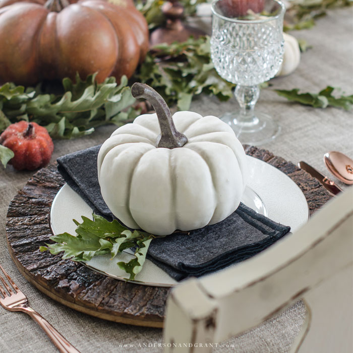 Five basic tips to help you set an interesting Thanksgiving table using what you already have.  | www.andersonandgrant.com