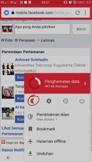 3 Cara mengaktifkan Night Mode (Mode Gelap) Saat Di Facebook Android