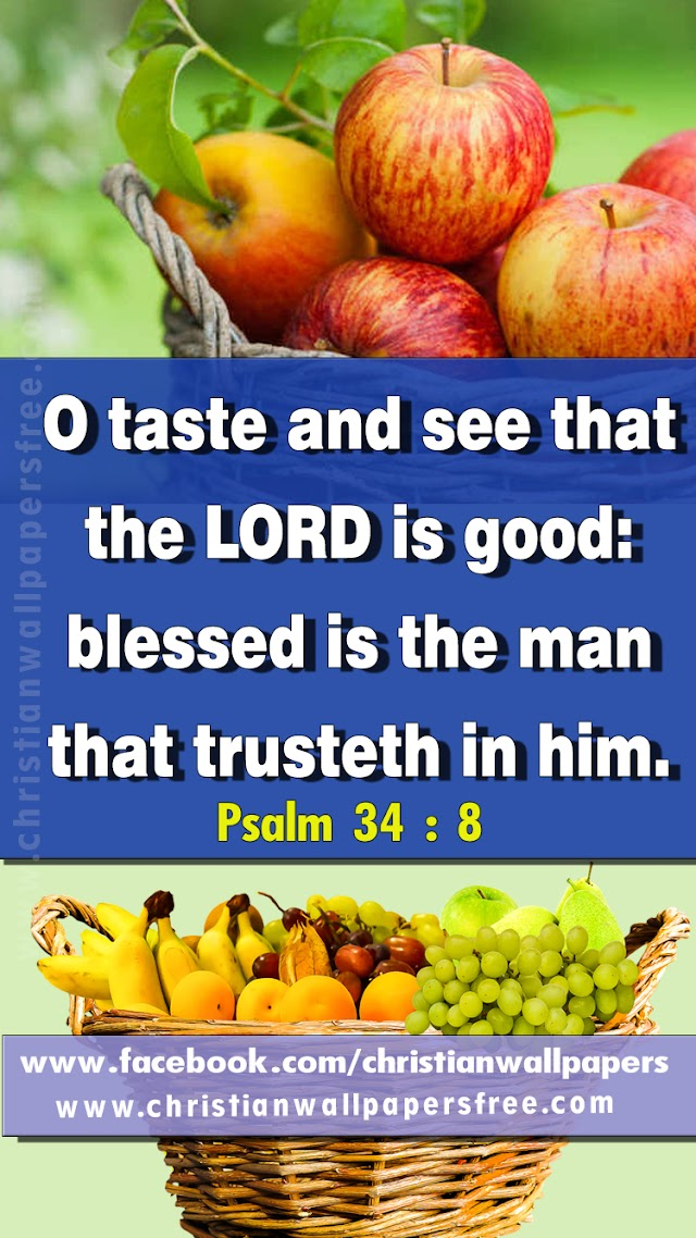Whatsapp Bible Verse Psalm 34 : 8 Tamil & English