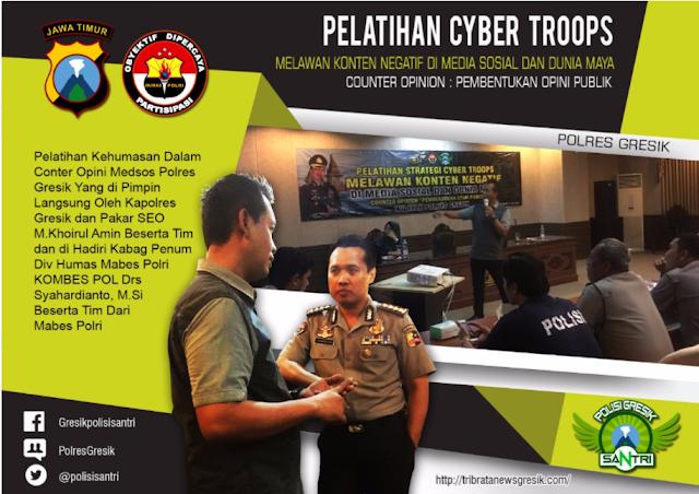 Pelatihan Cyber Troops Kontra Narasi Polres Gresik