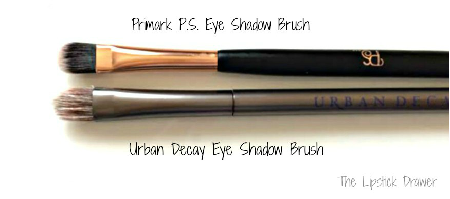 Comparing Urban Decay Eye Shadow brush to Primark Eyeshadow Brush