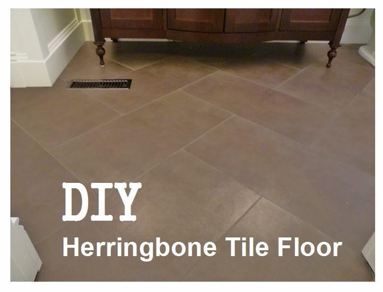 D I Y D E S I G N How To Install A Herringbone Tile Floor