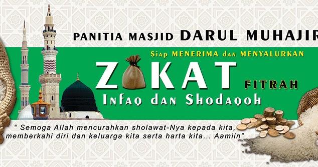 Spanduk Zakat Fitrah Cdr - gambar spanduk