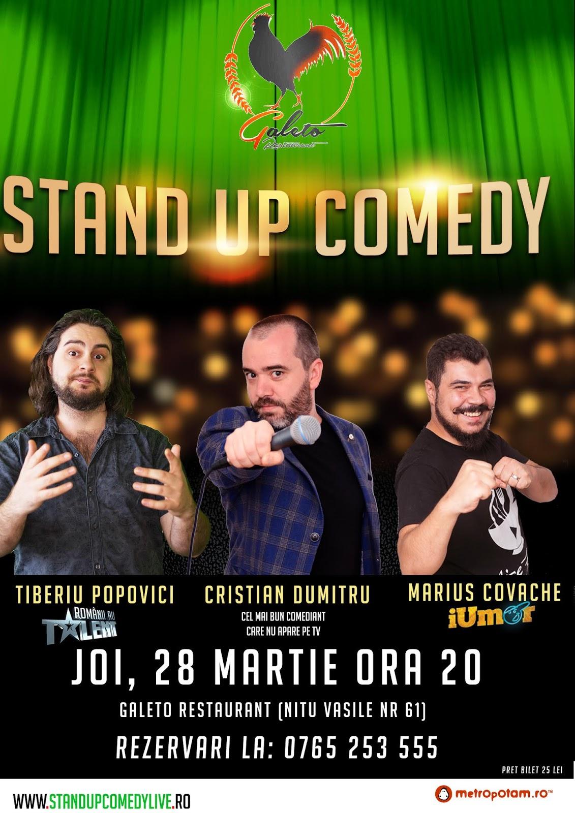 Stand-Up Comedy Bucuresti Joi, 28 martie 2019
