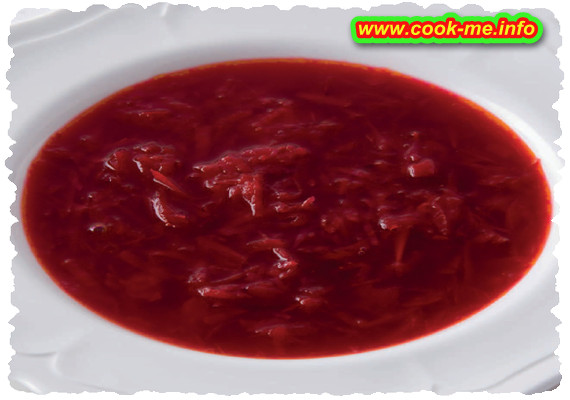 Recipe of borsch