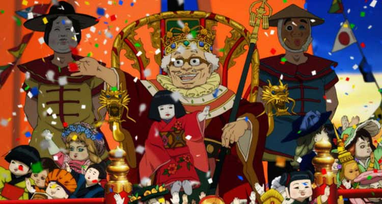 The villainous toy parade hits the streets in the animated film Paprika.