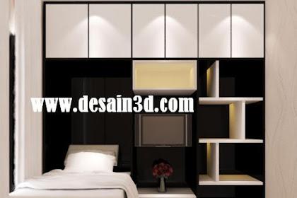 Jasa Interior Desain Kamar Tidur Rak Lemari TV