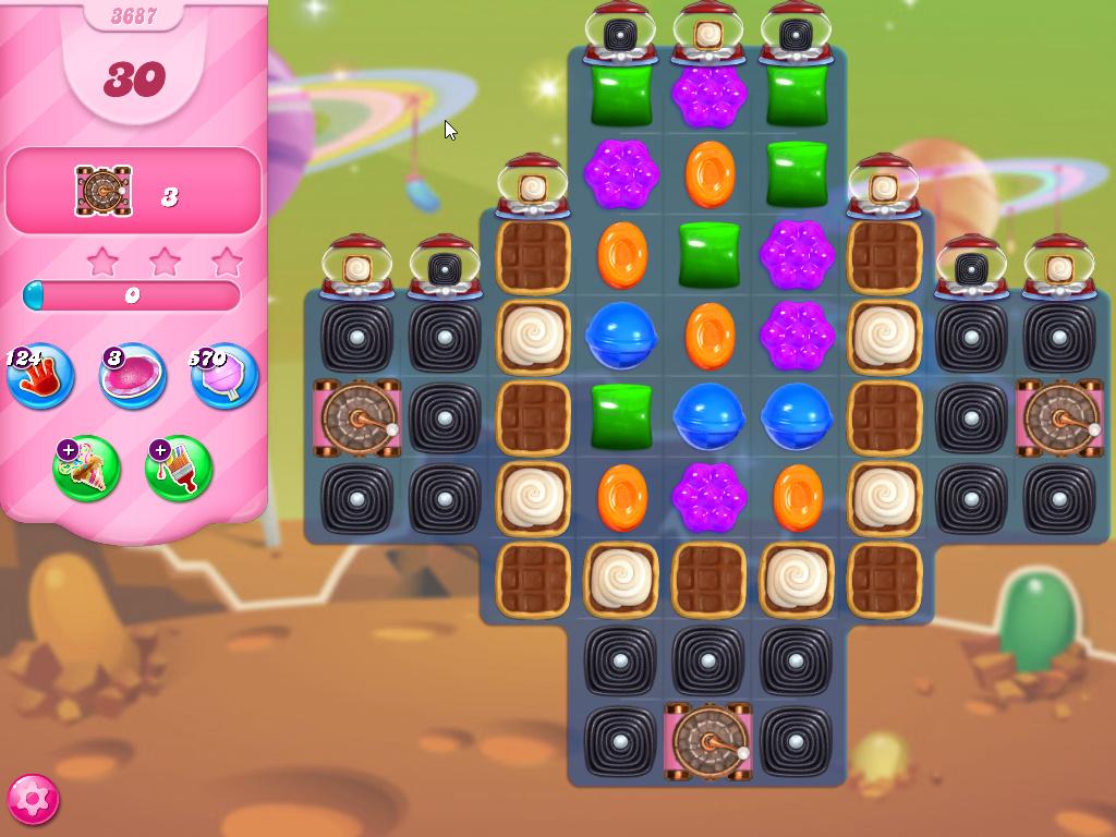 Candy Crush Saga level 3687