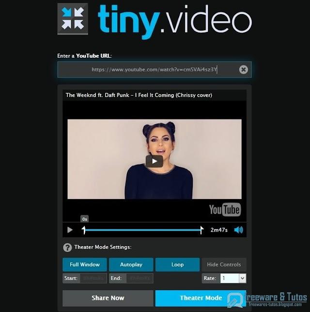 Tiny.video : partagez facilement des extraits de vidéos de Youtube