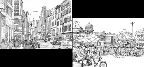 00-Tom-Hopkinson-Drawings-of-our-Lives-Depicted-in-Urban-Sketches-www-designstack-co