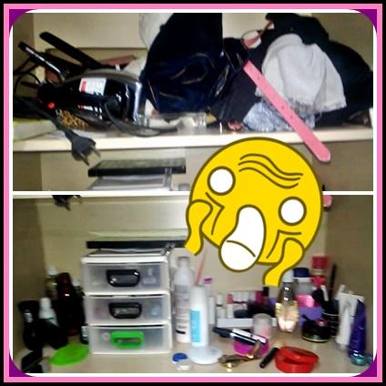 Arrumando o guarda-roupa, faxina