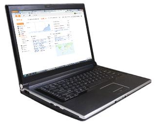 Un ordenador con las estadísticas de páginas más vistas de El Jardín del Lúpulo