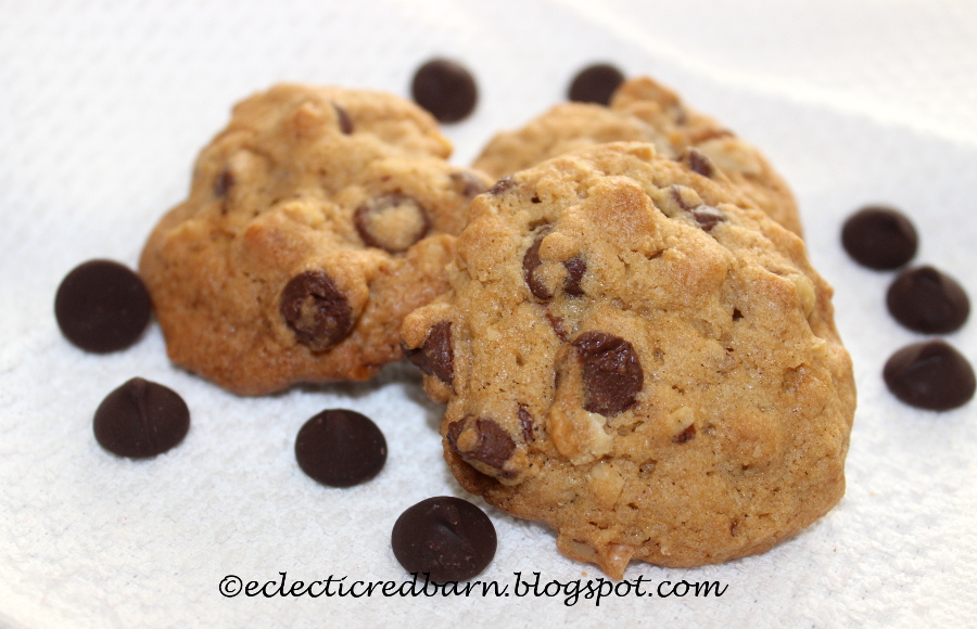 Eclectic Red Barn: Oatmeal Chocolate Chip Cookies with Pecans
