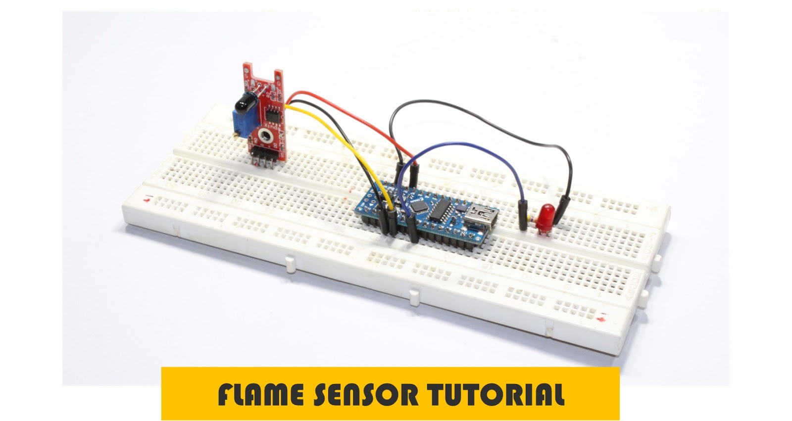 Robotech Maker How To Use Flame Sensor Simple Tutorial Building A Circuit On Breadboard For Beginners In Electronics