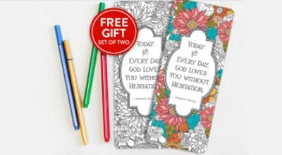 Image to get free bookmarks you can color