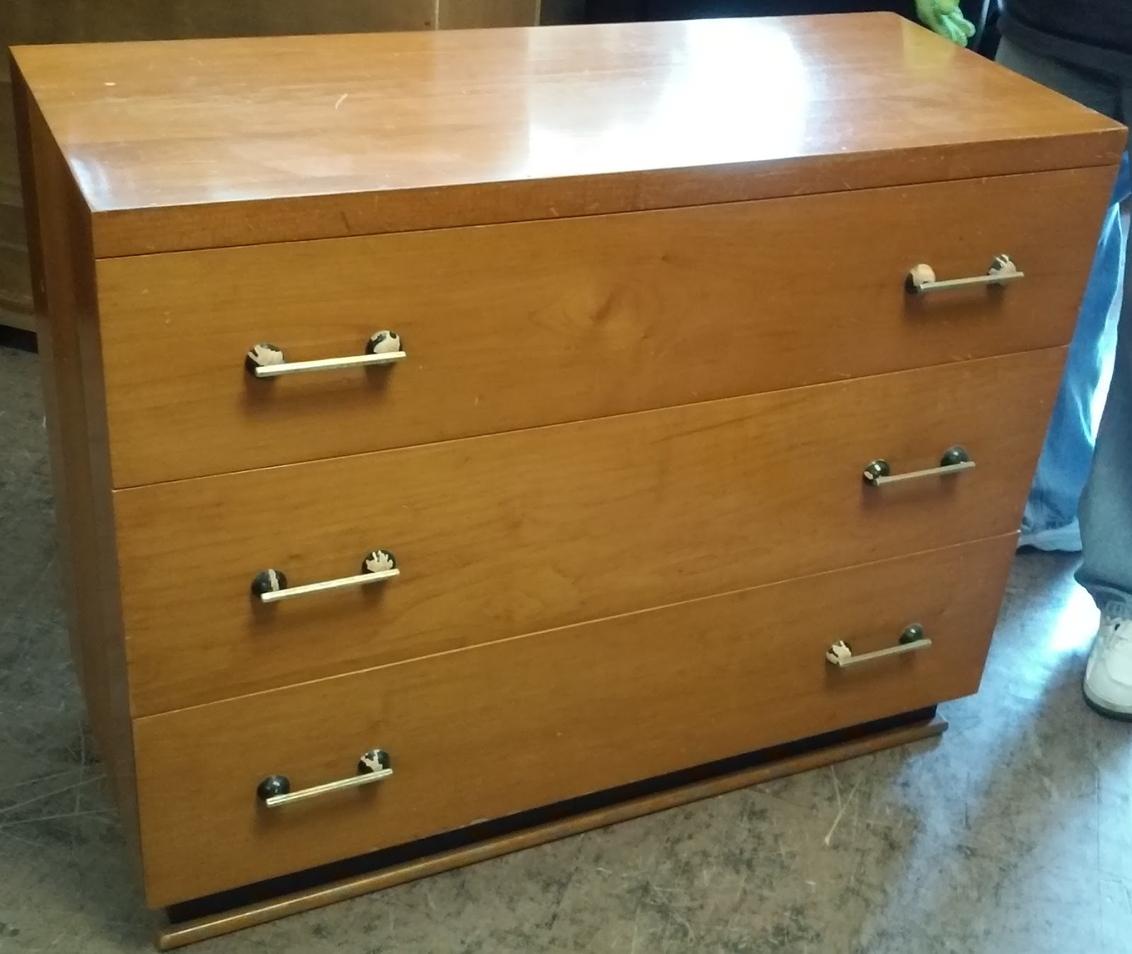 SOLD Mid Century Japanese Style 3 Drawer Chest   $110