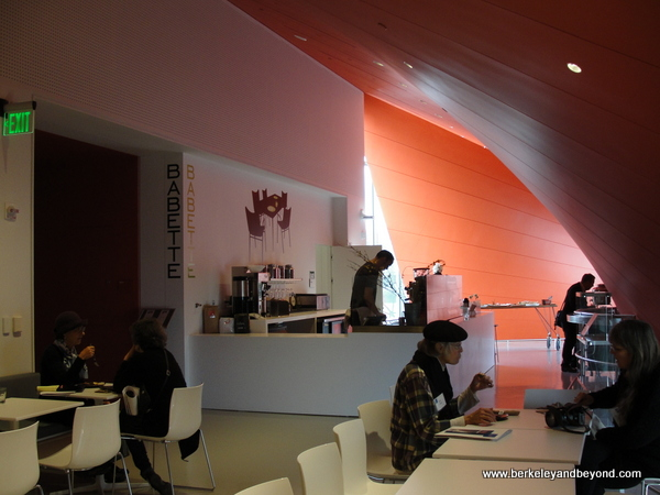 Babette cafe at new Berkeley Art Museum in Berkeley, California