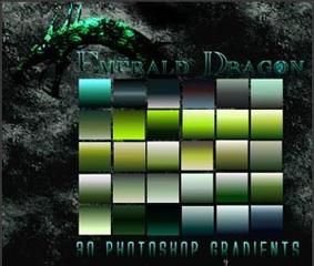 تحميل تدرجات ألوان الزمرد للفوتوشوب مجاناً, Photoshop Gradients free Download,Emerald Colors Photoshop Gradients free Download