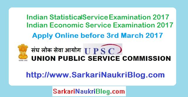 UPSC IES ISS Examination 2017