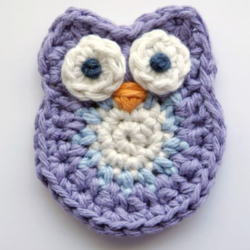 Crochet Owl Applique - Tutorial