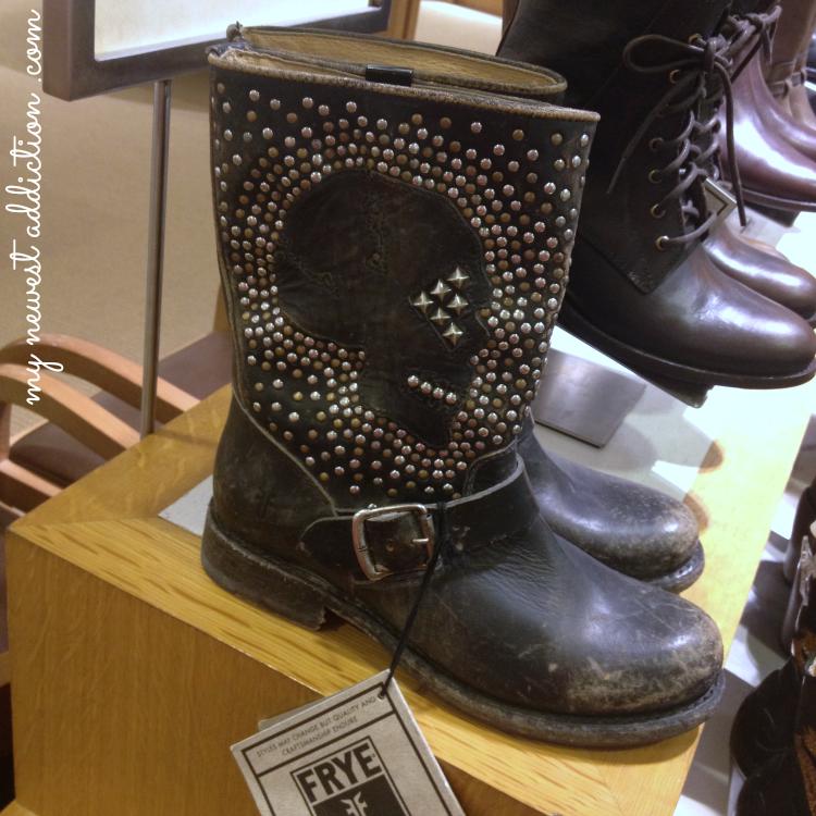 Frye Boots Skull Studs Studded Jenna