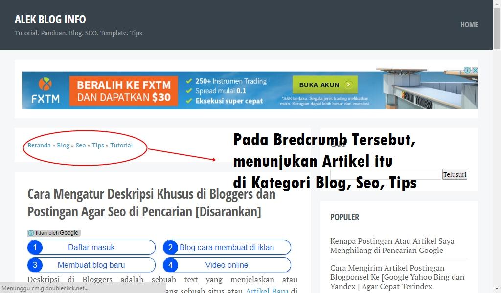 Cara Membuat Kategori Postingan Artikel dan Memasang di Navigasi Template Bloggers