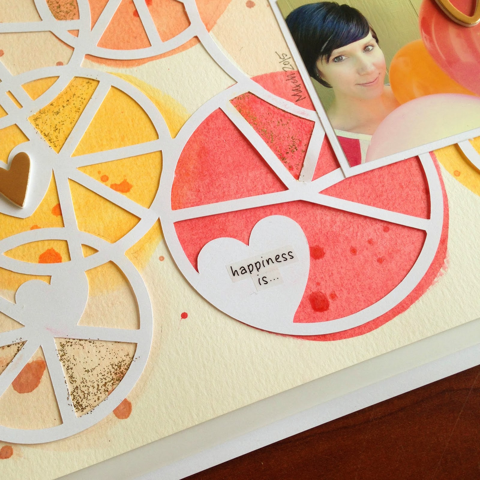 SRM Stickers Blog - Pie Chart Love by Tessa - #layout #digitalfiles #17turtles #stickers #borders #glitter