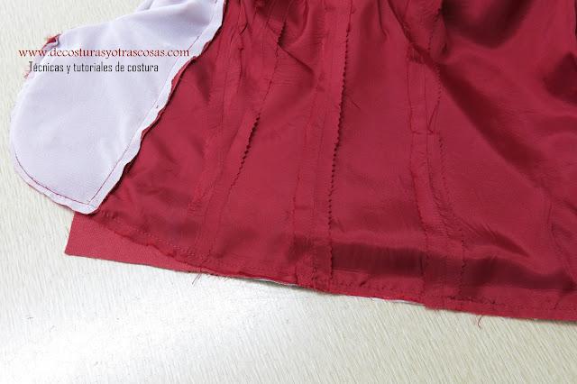 como forrar una chaqueta paso a paso