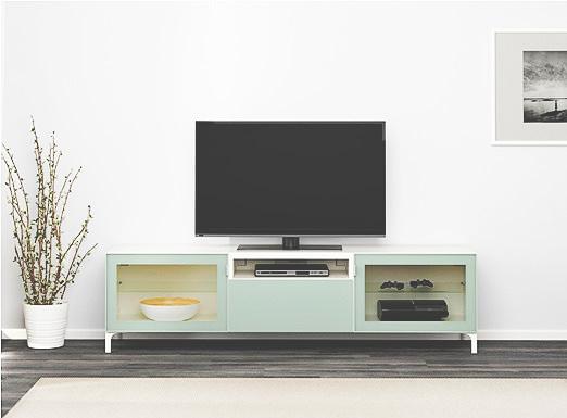 TV on top of an IKEA furniture
