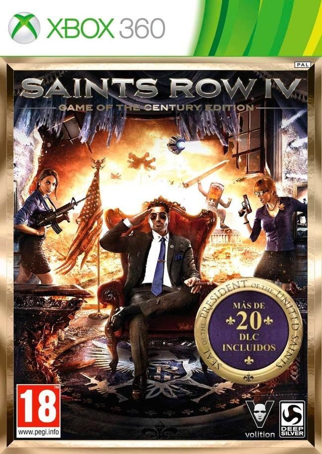 Cover Caratula Saints Row IV Game Of The Century Edition XBOX 360 ESPAÑOL Descargar
