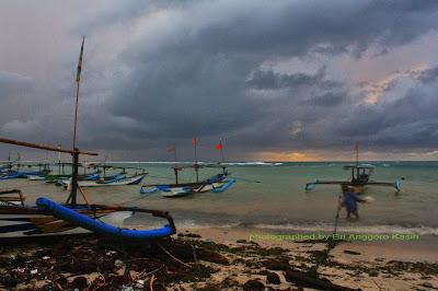 Ujunggenteng beach in Sukabumi.