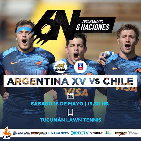 Argentina XV vs. Chile en Tucumán