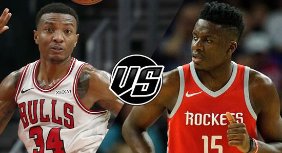 Live Streaming List: Chicago Bulls vs Houston Rockets 2018-2019 NBA Season