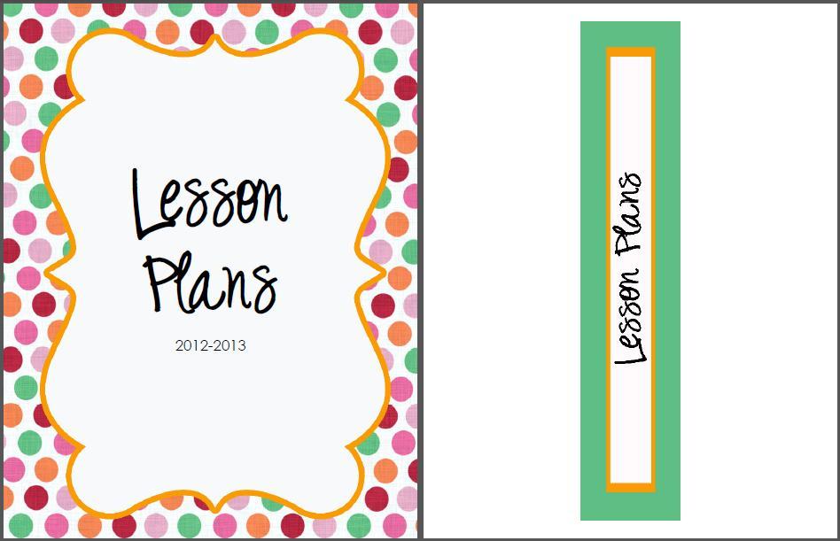 The Real Teachr: Creating A Lesson Plan Book