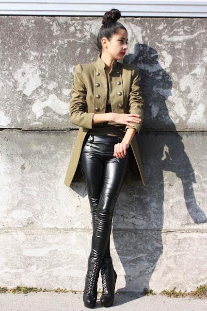 giacca stile militare giacca stile militare tendenza stile militare autunno inverno 2016 2017 army style fashion moda fashion blogger italiane color block by felym mariafelicia magno blogger italiane di moda