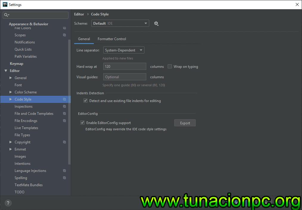JetBrains WebStorm con activador