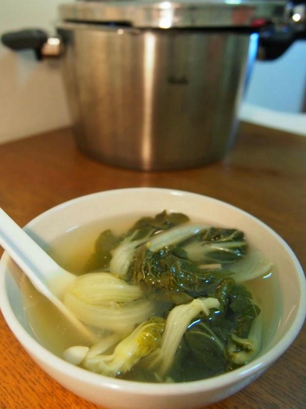 YKY enjoys cooking: Fissler高速煲 - 白菜金華火腿南北杏湯