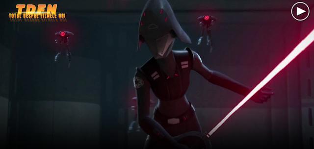 Actriţa Sarah Michelle Gellar, interpretează o femeie inchizitor ce are un singur scop: eliminarea rebelilor în Sezonul 2 al serialului Star Wars Rebels.